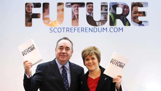 Scotland's First Minister Alex Salmond and Deputy First Minister Nicola Sturgeon
